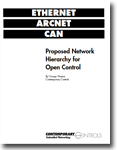 Ethernet, ARCNET, CAN: Proposed Network Hierarchy for Open Control