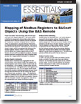Mapping of Modbus Registers